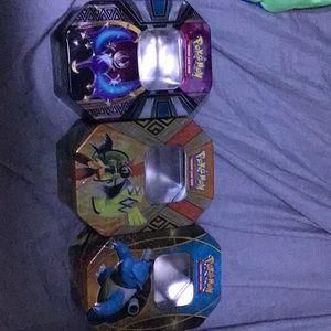 3 Pokémon tins
